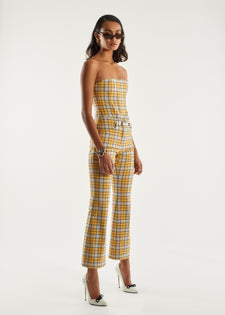 Morgan Pant - Yellow Plaid