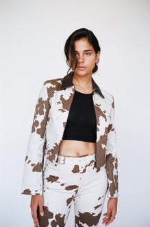 KAI JACKET - COW PRINT