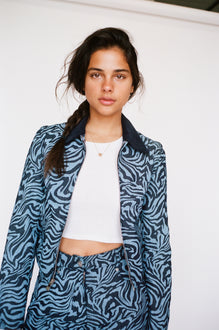 KAI JACKET - BLUE ZEBRA
