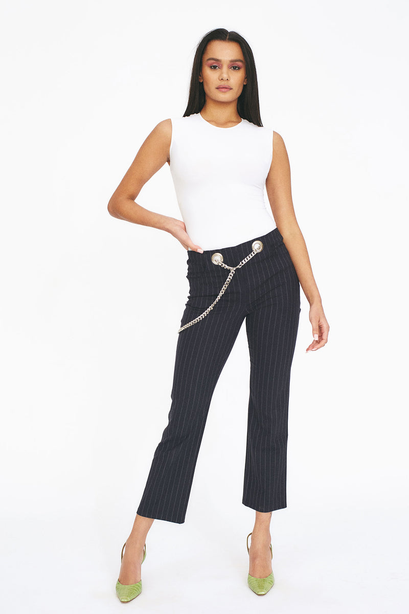 TOMMY PANTS - NAVY PINSTRIPE