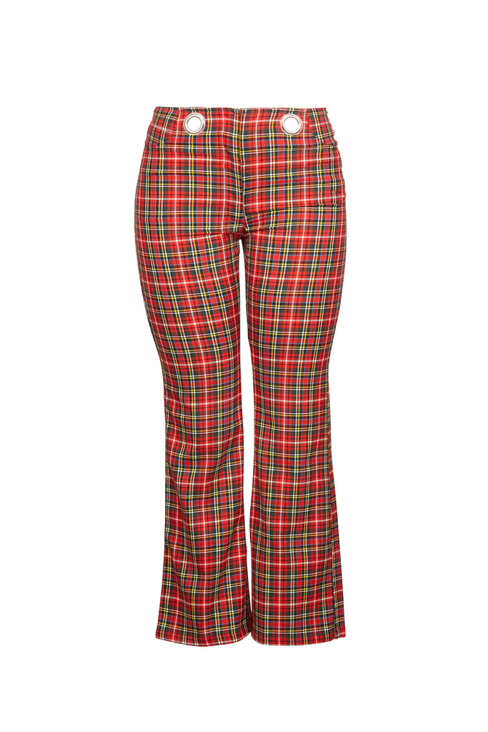 Morgan Pant - Red Plaid
