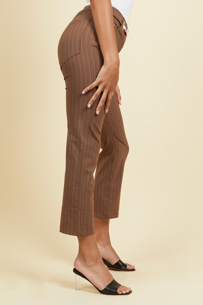 Tommy Pant - Toast Pinstripe