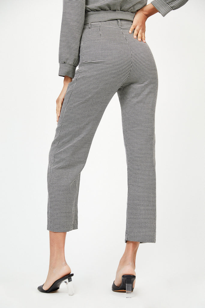 GIA PANTS - HOUNDSTOOTH