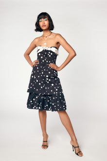 NORMA DRESS - BLACK POLKA DOT