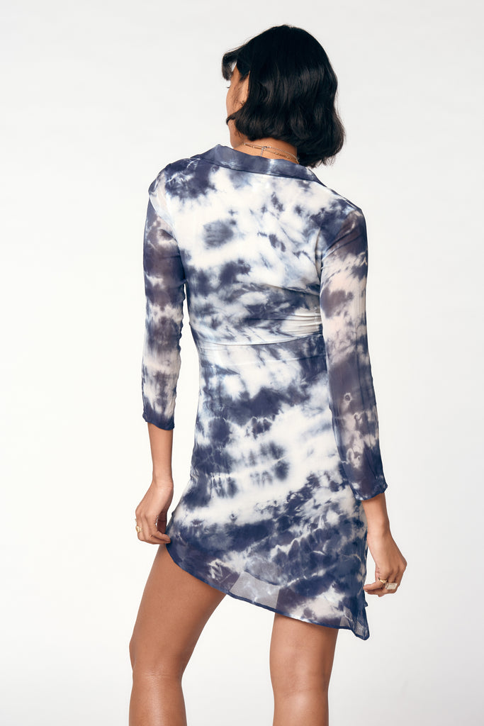 VANESSA DRESS - INDIGO TIE DYE