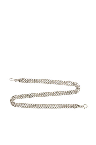 The Doubled Metal Chain Belt - two metallic chain belts that can be worn through any Miaou pant, or any belt loop