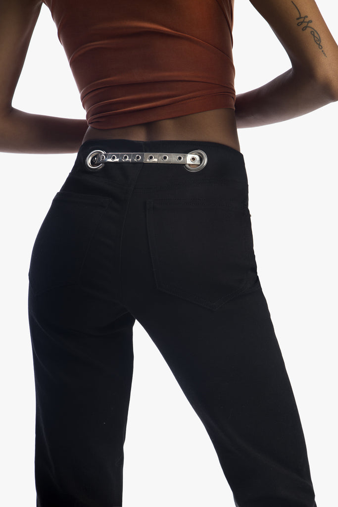 The Art Deco Belt - A skinny silver belt with vintage details, adjustable, one size fits all
