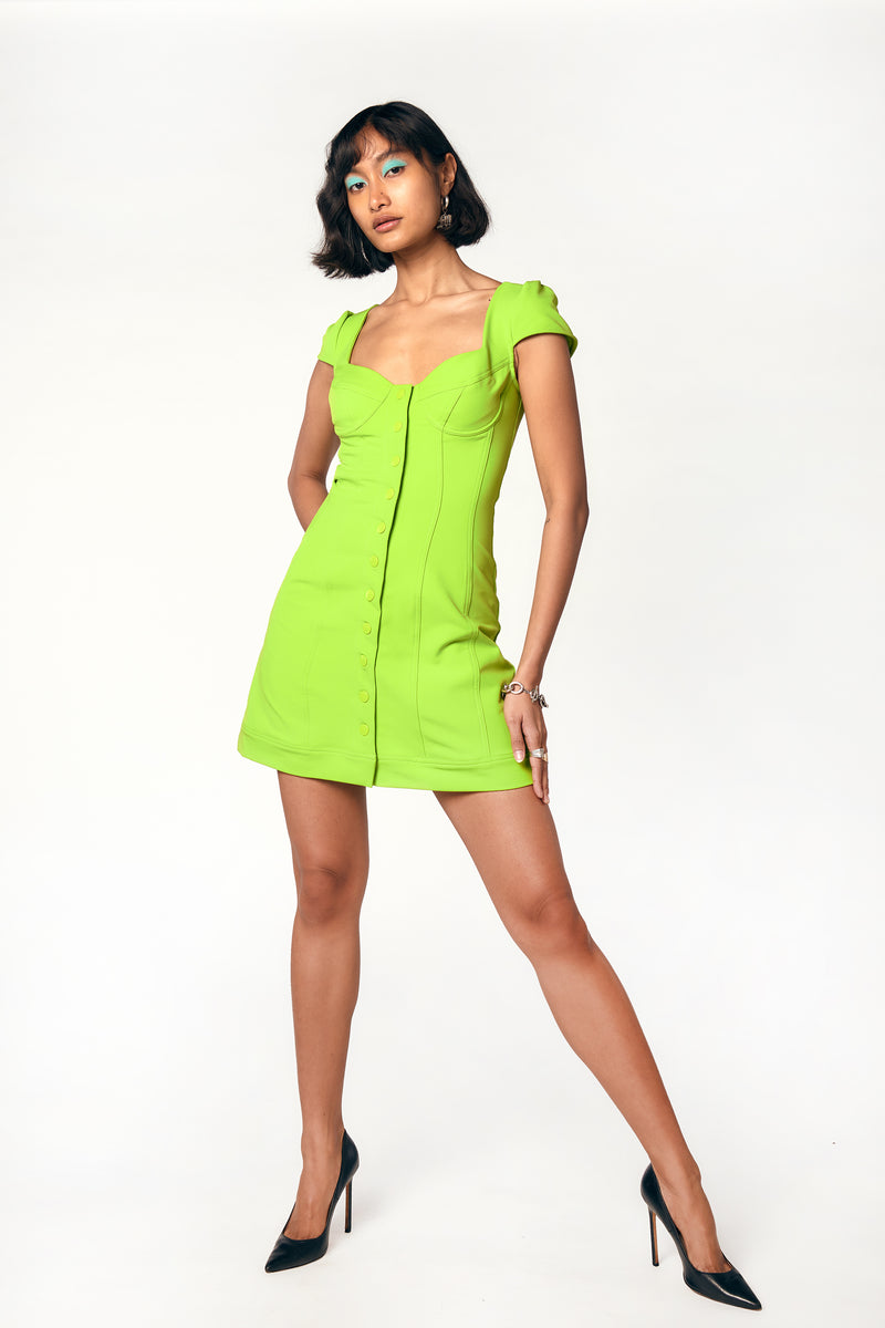 GIGI DRESS - ACID LIME