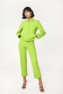 acid lime high waisted stretch pants
