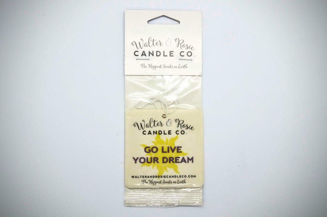 Go Live Your Dream Air Freshener