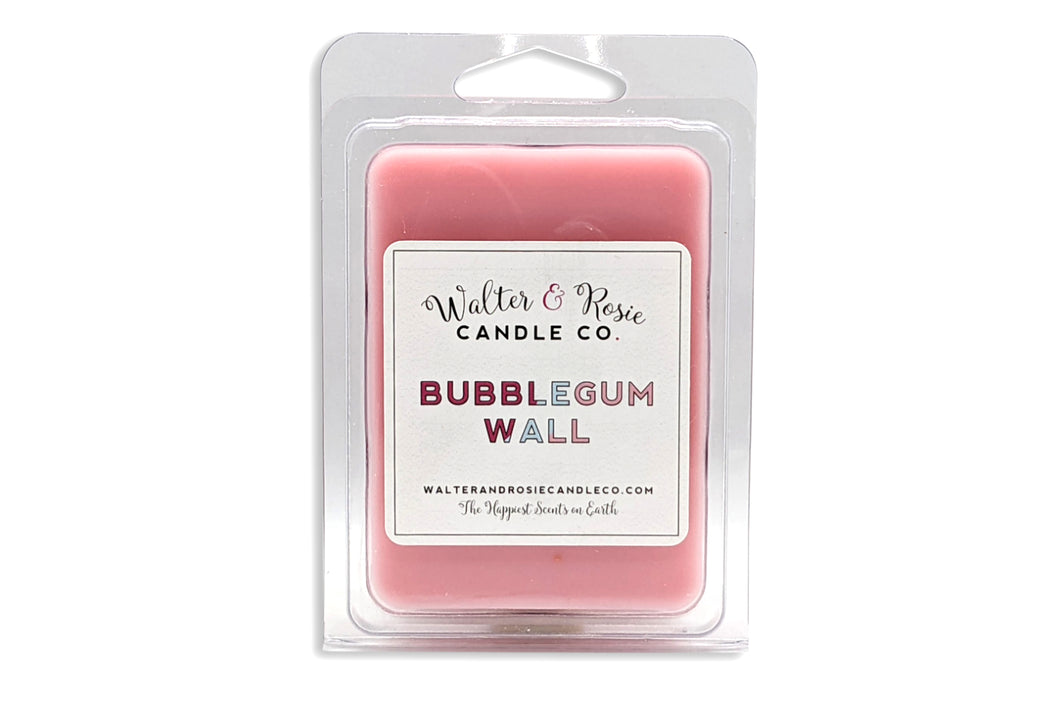 walter and rosie, walter and rosie wax melts, bubblegum wall
