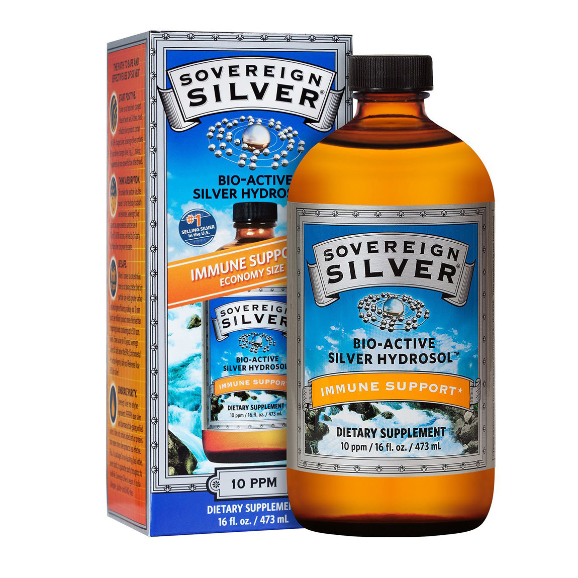 Natural Immunogenics Sovereign Silver Colloidal Silver 16 oz Economy Size