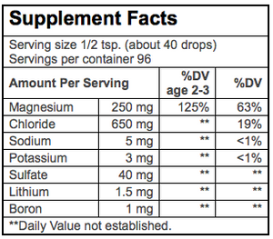 Trace Minerals ConcenTrace Drops Supplement Facts