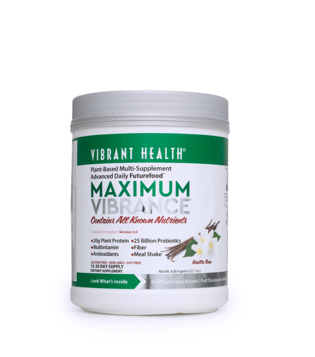 Maximum Vibrance SuperFood & Meal Replacement Vanilla Bean (15-30 day supply)