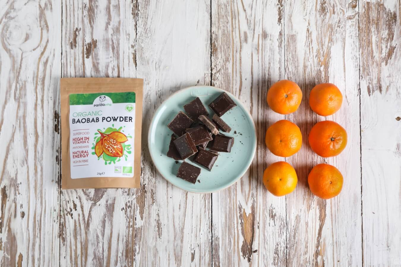 Baobab & Chocolate-Dipped Mandarin Slices