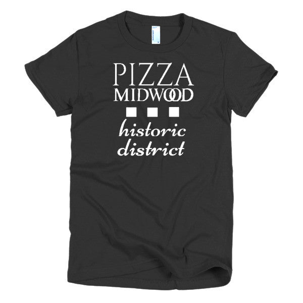Pizza Midwood Historic District Short sleeve women's t-shirt - Charlotte Apparel Co. - 1