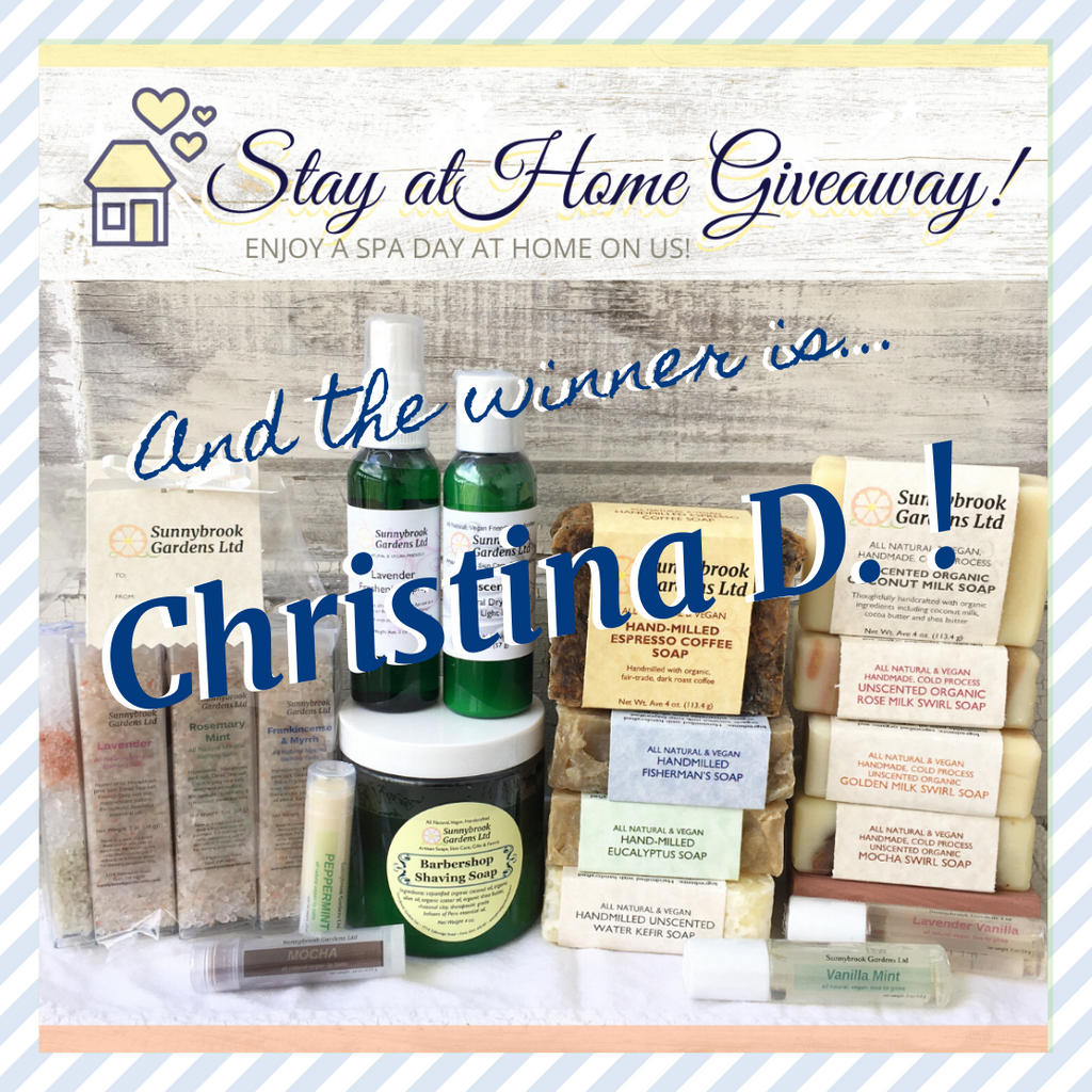 Stay at Home Giveaway!  Enjoy a Spa Day at home on us!