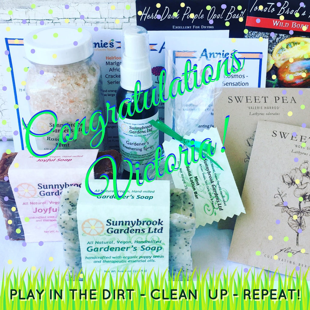 April Giveaway of Garden Seeds, Hand-milled Soaps and Skincare!