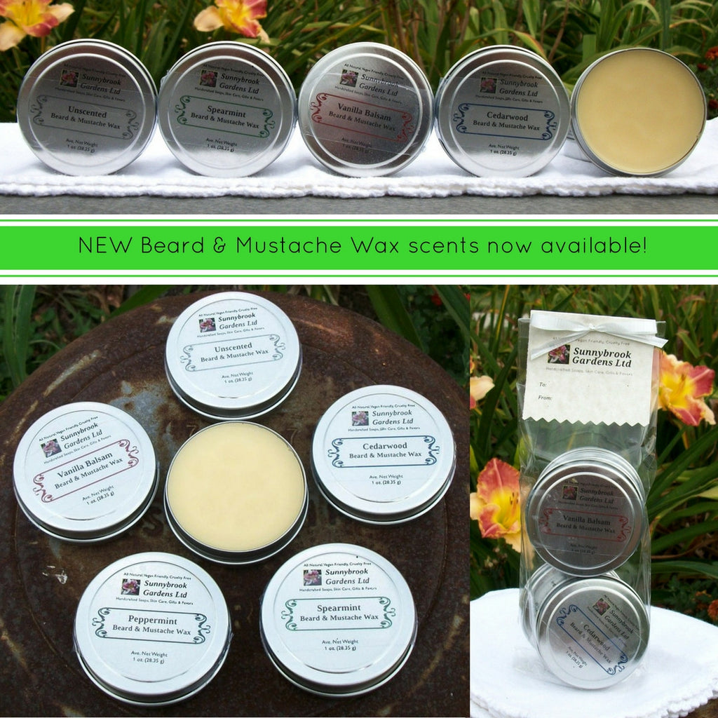 NEW Beard and Mustache Wax scents are now available!