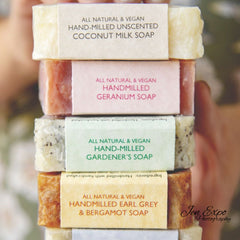 Hand-milled Soaps, all natural, vegan friendly and extra-long lasting
