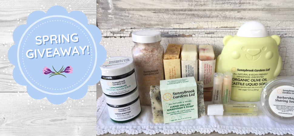 Spring Giveaway of our all natural soaps and skin care!