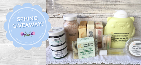 Spring Giveaway of our all natural and vegan friendly soaps!