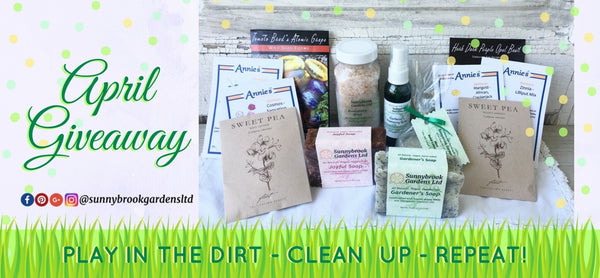 April Giveaway of Garden Seeds, Hand-milled Soaps and Skin care!