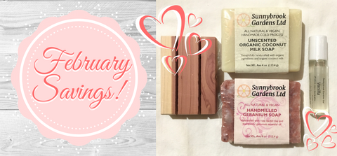 Enjoy Special Savings every month on our all natural, plant based skin care!