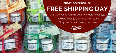 Free Shipping Day on Friday, December 16, 2016!