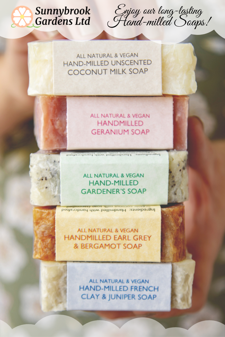 Relax and enjoy our long-lasting Hand-milled Soaps!