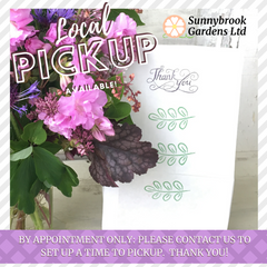 Local friends are welcome to pickup orders by appointment