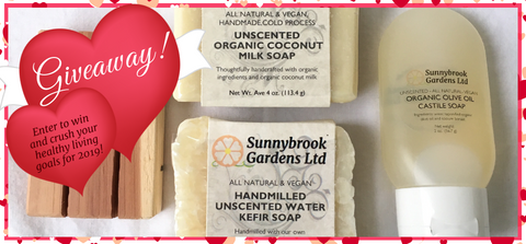 Enter to win our giveaway of our unscented soaps  to clean up your skin care routine in the New Year!