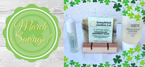 Enjoy our all natural, vegan friendly soaps with our Monthly Promotion Gift Box!