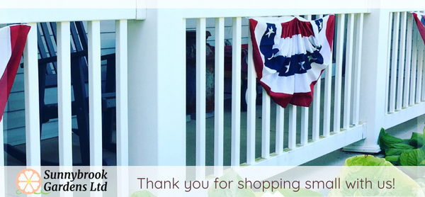 Thank you for shopping small with us at Sunnybrook Gardens Ltd!