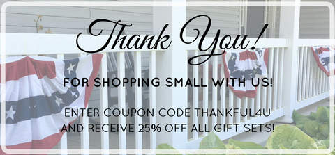 Thank you for shopping small with us this year!