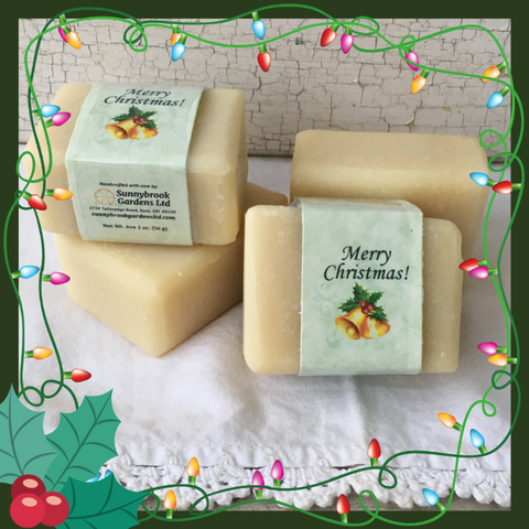Enjoy our All Natural Unscented Merry Christmas Guest Soap Favors