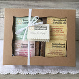 Gift Box of Four Long-lasting Hand-milled Soaps