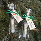 Set of 12 Merry Christmas or Happy Holidays all natural, vegan Lip Balms with gift packaging - Sunnybrook Gardens Ltd - 2