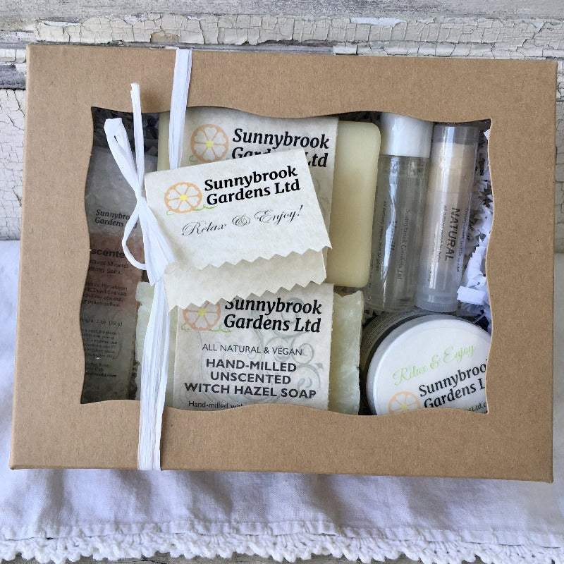 Relax and Enjoy our Fresh Air Unscented Collection Spa Day Gift Set