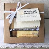 Small Gift Box with two soaps and a soap dish