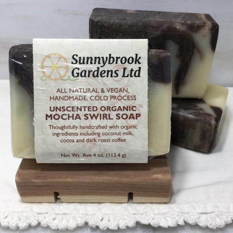Unscented Mocha Swirl Cold Process Soap from SunnybrookGardensLtd.com