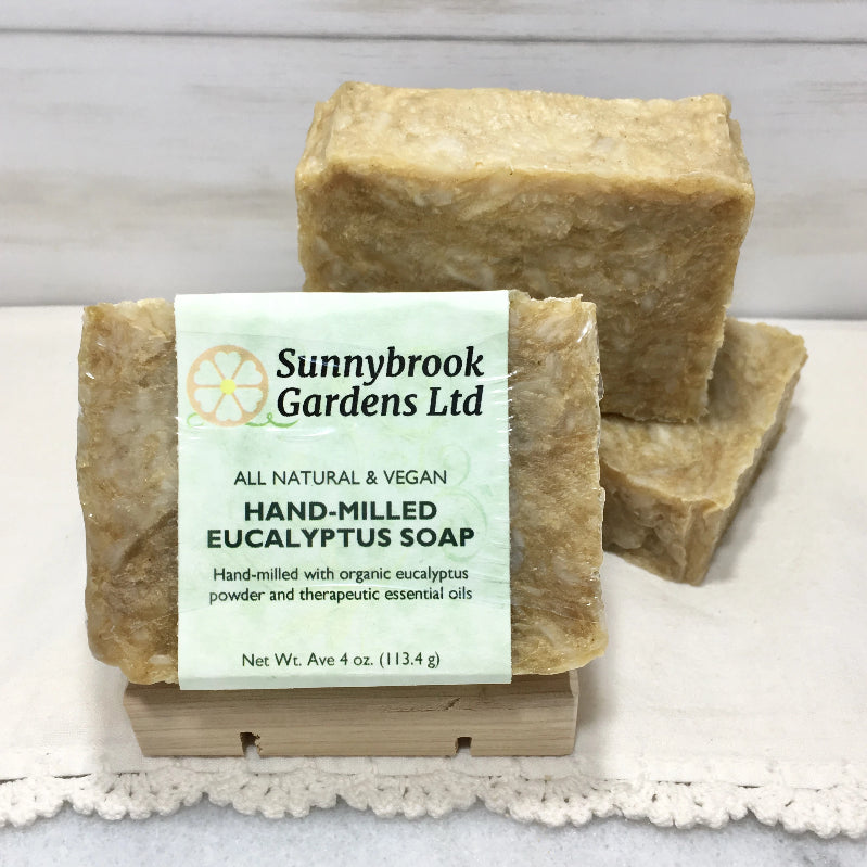 Enjoy our all natural, vegan friendly Hand-milled Eucalyptus Soap