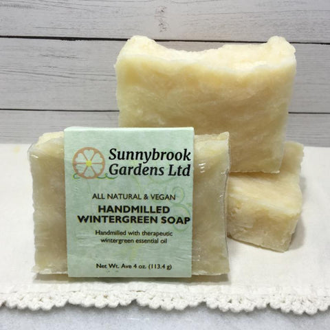 Enjoy our all natural, vegan friendly Hand-milled Wintergreen Soap