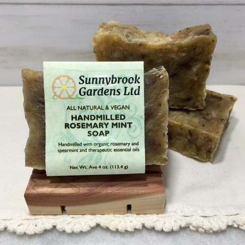 Rosemary Mint Hand-milled Soap, handcrafted, all natural and vegan friendly