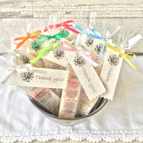 All Natural Mineral Bathing Salt Thank You Shower and Party Favors