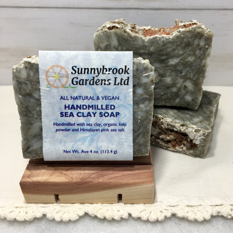 Sea Clay Hand-milled Soap, handcrafted, all natural and vegan friendly