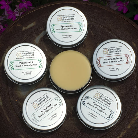 SPECIAL ORDER Set of Three (3) Beard and Mustache Wax, all natural, vegan friendly