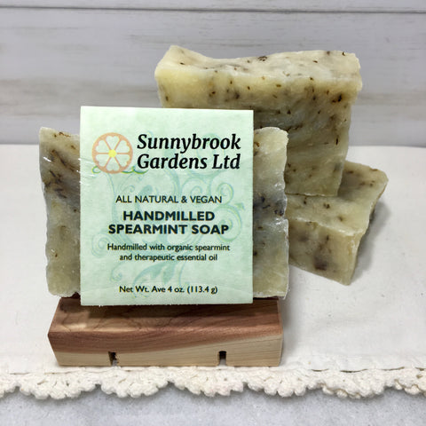 Hand-milled Spearmint Soap, all natural and vegan friendly