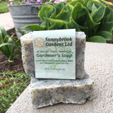 Gardener's Hand-milled Soap, all natural, vegan friendly and handmade with organic poppy seeds