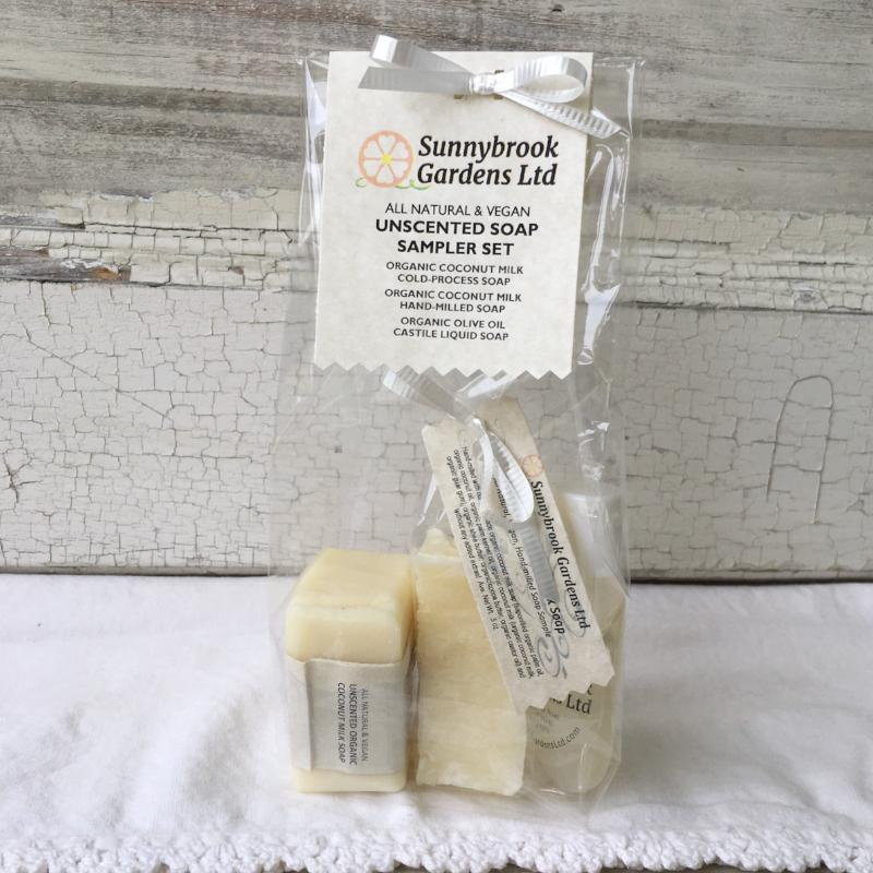 Unscented Soap Sampler Gift Set of our all natural, vegan friendly handmade soaps!
